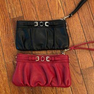 EXPRESS Wrist Wallet Black & Red Wristlet